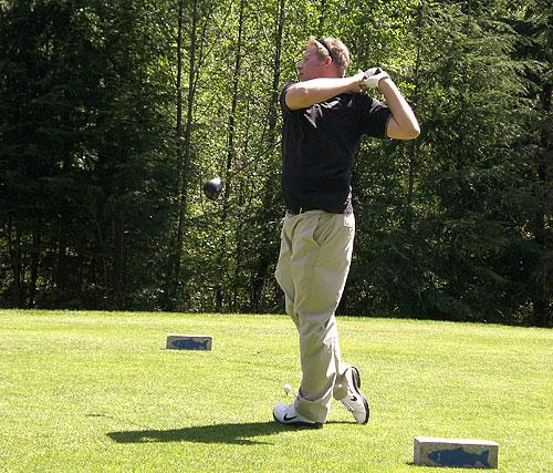 Jeremy golfing at Storey Creek