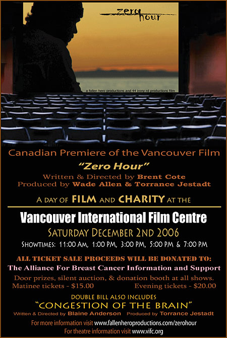 Zero Hour Screening Poster