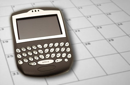 BlackBerry Handheld and calendar
