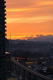Sunrise in Burnaby, BC on March 6, 2007