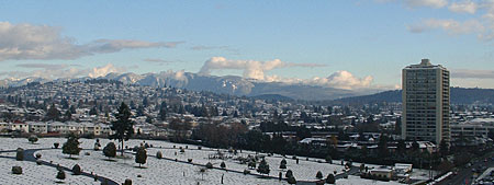 Winter View of Lower Mainland Mountains