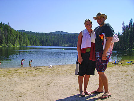 Champion Lakes Campground Beach - Scott and Bridget