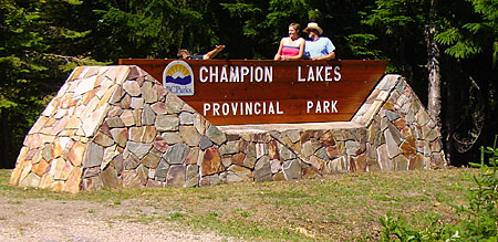 Champion Lakes Campground Sign