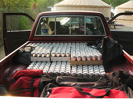 Enough beer for a housboat army