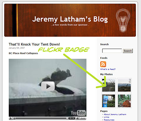 Jeremy Latham's Flickr Badge: Pictures
