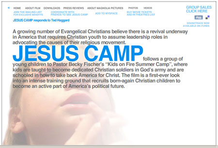 Jesus Camp Website Preview