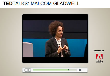 A good example for Toastmasters: Malcom Gladwell Speaking at TED 2004