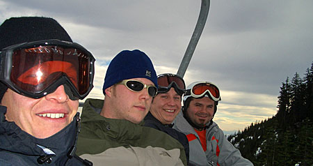 Guys on the chairlift - Cypress Mountain
