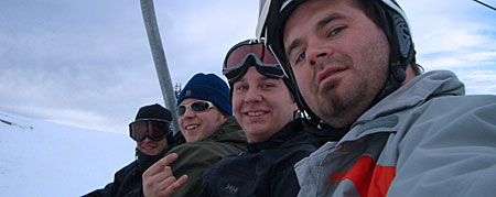 On the lift at Cypress - November 24, 2005