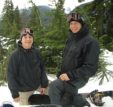 Ryan & Jude on the hill - Cypress Mountain